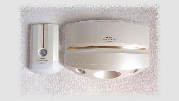センサーライト ELPA もてなしのあかり 電球色LED HLH-1205(PW)の画像