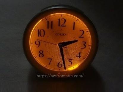 目覚まし置時計シチズンサイレントミグR654