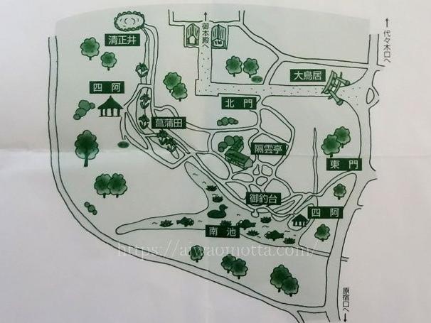 明治神宮御苑の地図の画像