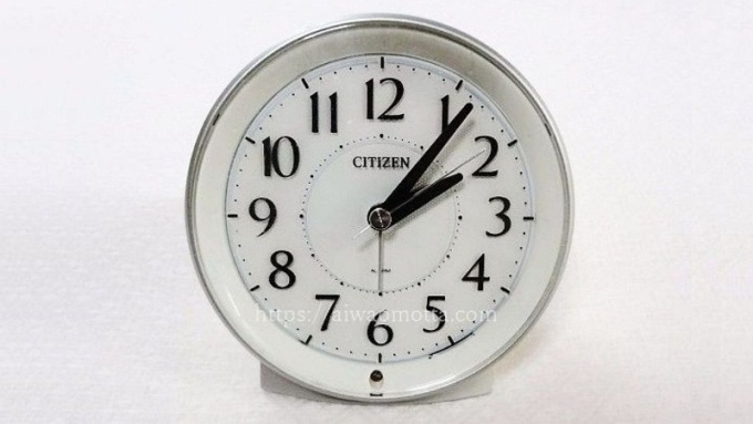 シチズンサイレントミグ目覚まし時計の画像