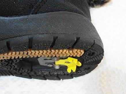 フィールドテックスのスノーブーツのソール、足裏側の画像