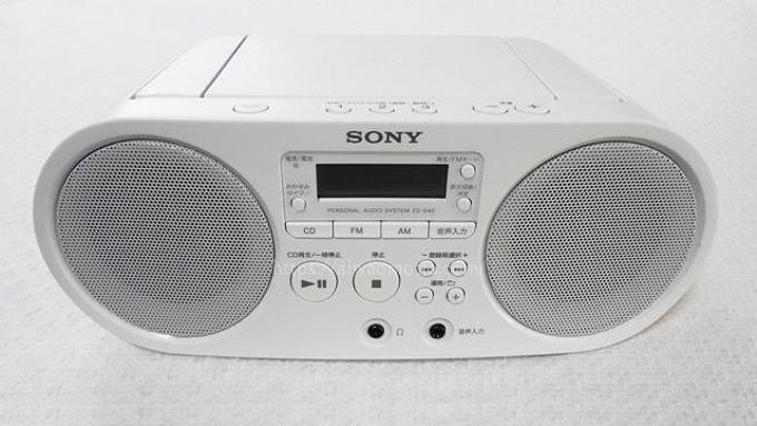ソニーのCDラジオZS-S40の画像