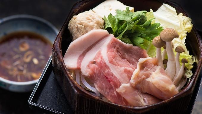 豚しゃぶ鍋料理の画像