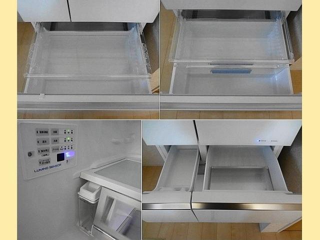 パナソニックの冷蔵庫、NR-F503XPVの野菜室と冷凍室などの画像