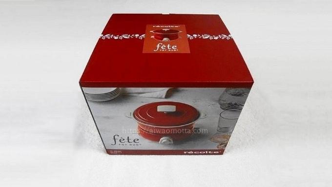 電気鍋レコルトポットデュオフェットの箱の画像