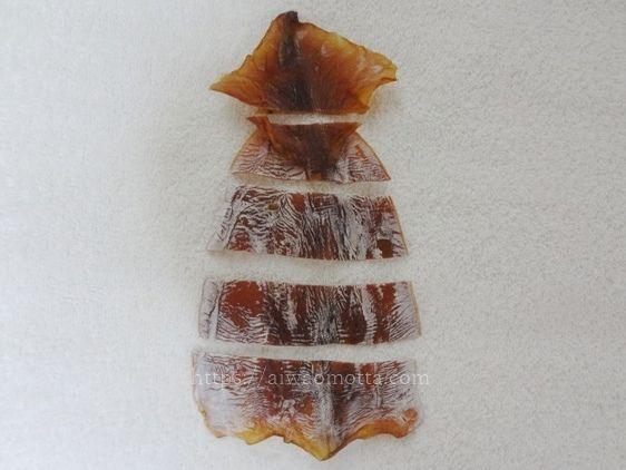 イカの麹漬けの切り方画像