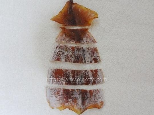 松前漬けを作る、スルメイカの切り方画像
