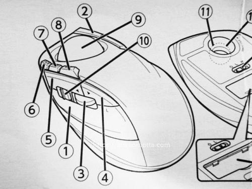 トラックボールの説明書の画像
