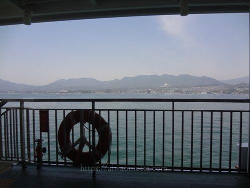 JR西日本宮島フェリーからの風景の画像