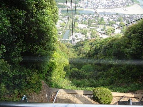 山口県の岩国ロープウェーに乗った画像