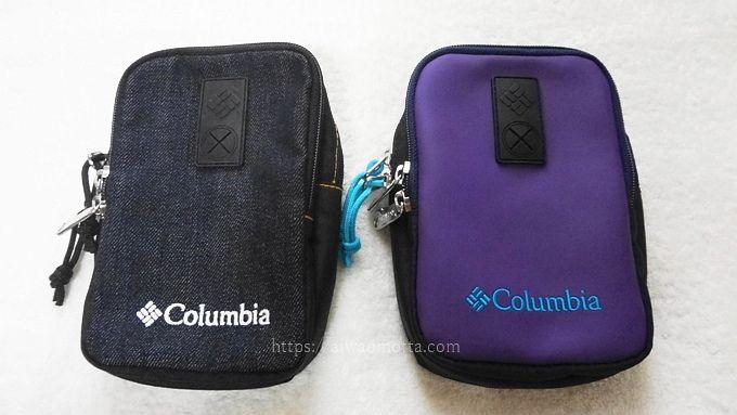 コロンビアのポーチ・ナイオベVIの黒と紫の画像